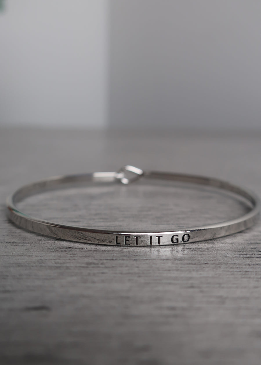 Silver 'Let it Go' Bangle