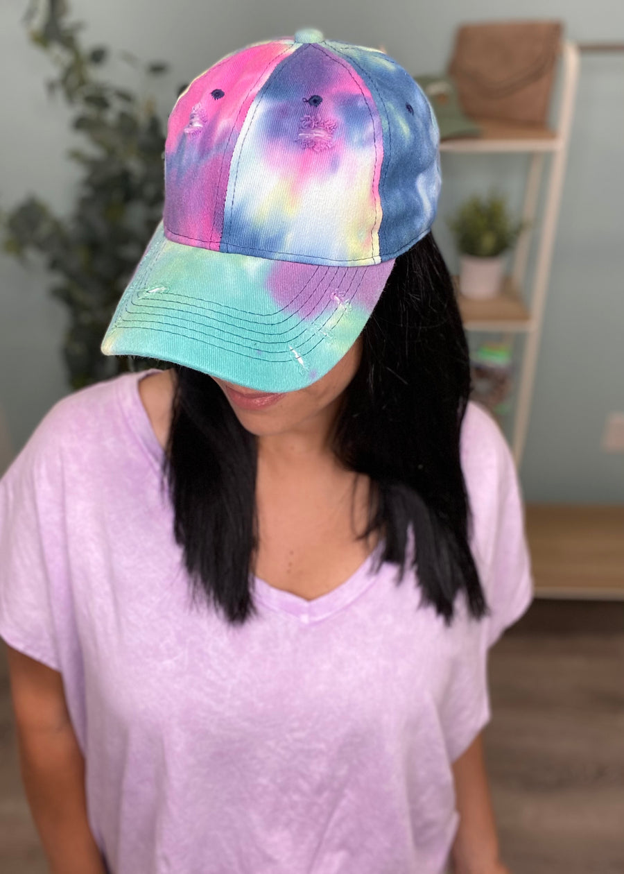 Tie Dye Baseball Hat-Cali Moon Boutique, Plainville Connecticut