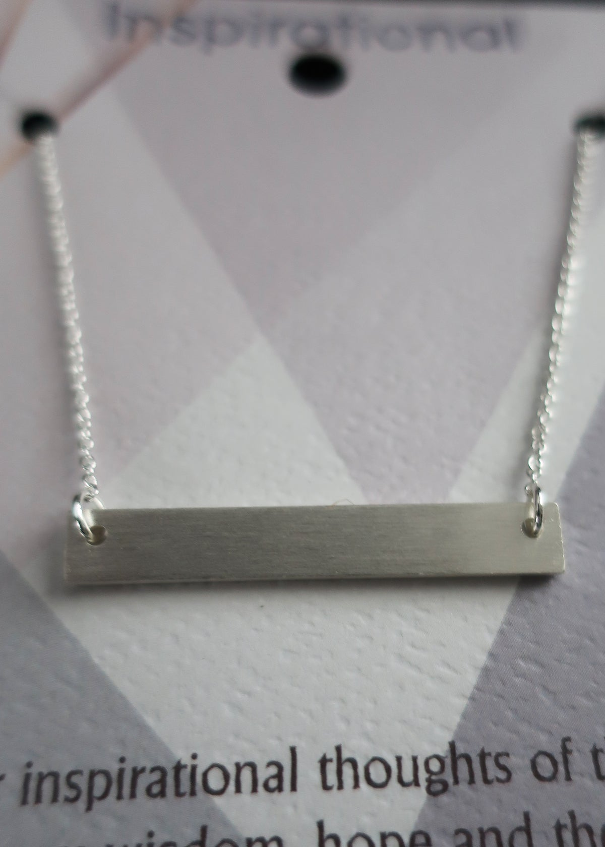 Silver Solid Bar Necklace