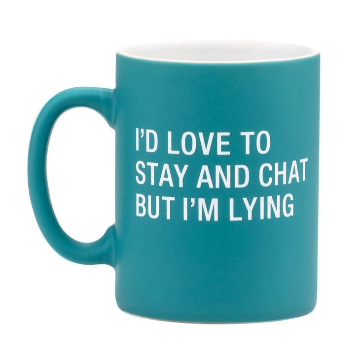 Teal Love to Chat But I'm Lying Mug-Cali Moon Boutique, Plainville Connecticut