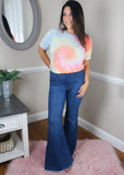 Medium Blue Bell Bottom Jeans