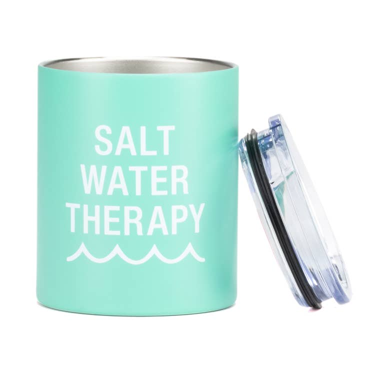 Mint 'Salt Water Therapy' Low Ball Tumbler
