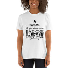 Pit Bulls show me a bad one I'll show you a stupid owner Short-Sleeve Unisex T-Shirt