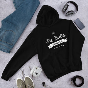 Pit Bulls Forever ribbon Hooded Sweatshirt