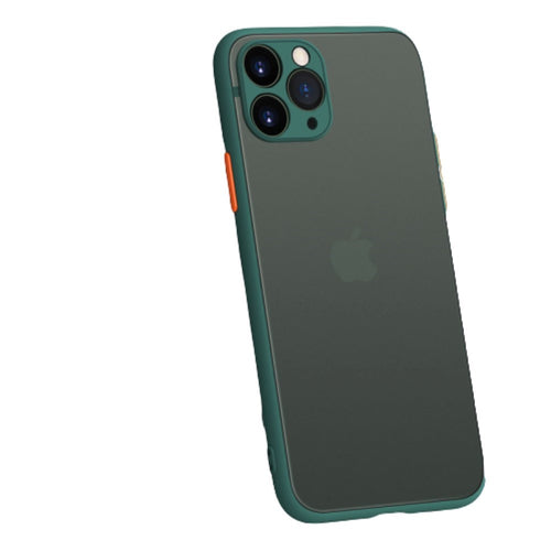 Fashion Color Contrast iPhone 11 Pro Max Case, Semi-Transparent Frosted Case, Lens Full Package Protection, Thin Slim, Pass 9.84 FT Height Drop Test.  US$1.00 /pcs 1 Times Free Shipping for Every Buyer