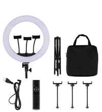 "Beauty Live Ring Light Kit, 18"" Ringlight Flashes, 75"" Tripod Stand, 3 Tablet Phone Camera Holder, Led Anchor Live Light, Live on YouTube Instagram, Video, Makeup - amazing7.shop"