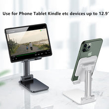 Live Broadcast Stand, Folding Desktop Phone Stand, Cell Phone Stands, Phone Holder, Mobile Phone Stand Holder for Tablets iPad iPhone Kindle All Devices Up to 12.9""