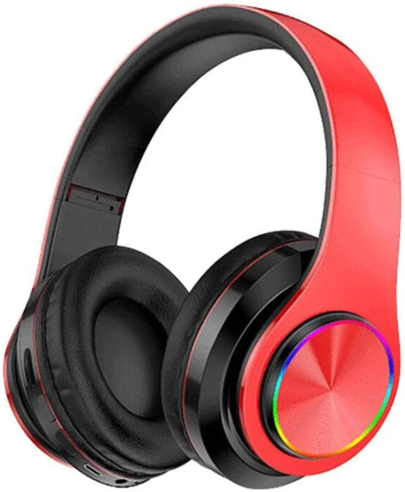 B39 Bluetooth Headphones with 8Hours Playtime, Wireless Headsets Over Ear, Hi-Fi Stereo, Multi-Colored Breathing Led, Built-in Mic, Snug Fit Earphones for Game Video DJ