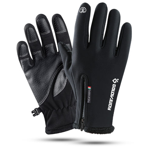 Touch Screen Novelty Gloves & Mittens, Outdoor Sport Recreation Winter Warmest Waterproof Windproof Gloves for Men Women Cycling Climbing Skiing with High-Density Nylon Fabric Fleece Liner - amazing7.shop