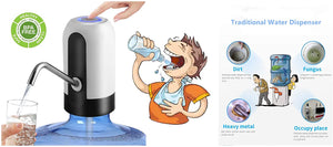 Electric Water Bottle Pump, BPA Free Automatic Drinking Water Dispenser, USB Charging, Low Noise, Fits 5 Gallon 2.16-inch Neck Water Coolers