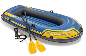 Challenger 2, Challenger 3 Inflatable Boat with  Oars & Pump