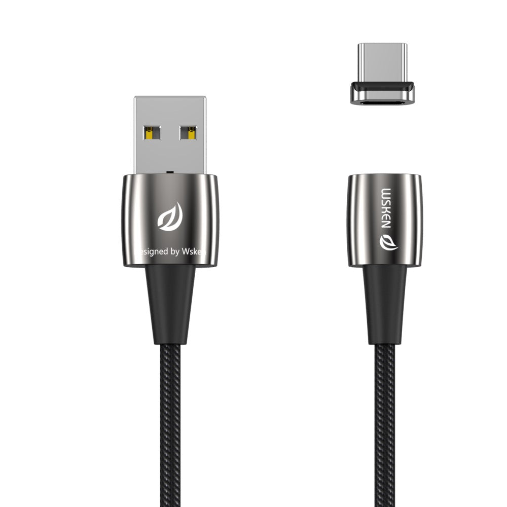 Wsken X1 USB Type C Magnetic Fast Charging Cable, Portable Android Phone Charger Cord, Data Sync for Samsung, Galaxy S9, S9+, S8, S8+, MacBook, Huawei Pro Mate, Nintendo Switch