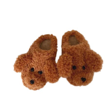 Amazing 7 Plush Teddy Puppy Slippers, Women's House Indoor Slippers, Cute Animal Furry Foot Pals, Adorable Animal Flur Slippers