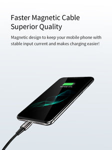 Magnetic Fast Charging Cable, Portable  Phone Charger Cord, Data Sync for iPhone, iPad