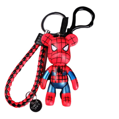 Amazing 7 Creative Doll Keychain, Leather Cord Car Keychain, Pendant, Cartoon, 2 Pack