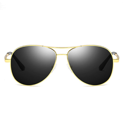 Amazing 7 Retro Aviator Polarized Sunglasses, Men's Driving Sun Glare Glasses