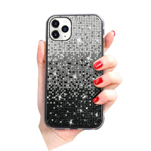 Amazing 7 Gradient Color Phone Case, Women's Bling Bling Creativity Case, Compatible with iPhone 12, 12 Pro Case, for iPhone  12, iPhone 12 Pro, 6.1 Inches