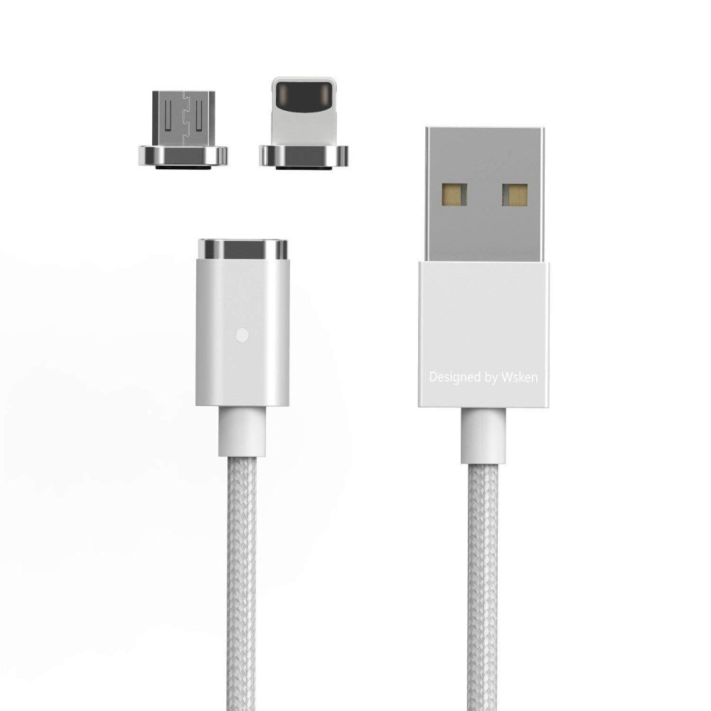 Wsken Mini 2 2 In 1 Micro USB Magnetic Super Fast Charging Cable Portable  Phone Charger Data Sync LED for Android Samsung Galaxy S7 S6 Kindle iPhone