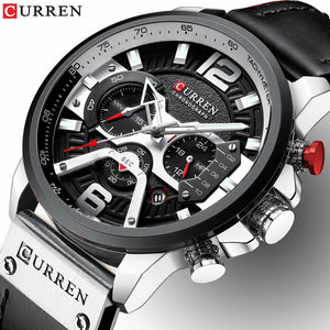 Relogio Masculino Mens Watches Top Brand Luxury Men Military Sport Wristwatch Leather Quartz Watch erkek saat Curren 8329 - amazing7.shop