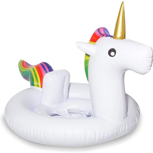 Amazing 7 Inflatable Unicorn Baby Swimming Pool Float, Toddler Float with Seat, Summer baby floats for pool, Infant Inflatable Swimming Ring for Kids
