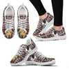 American Pit Bull Terrier Christmas Running Shoes For Women- Free Shipping-Paww-Printz-Merchandise