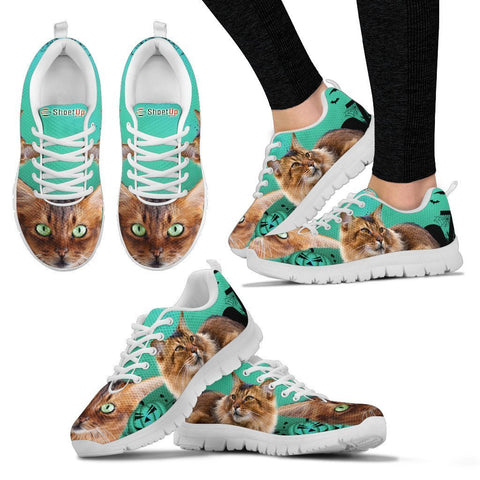 Somali Cat (Halloween) Print-Running Shoes For Women-Free Shipping