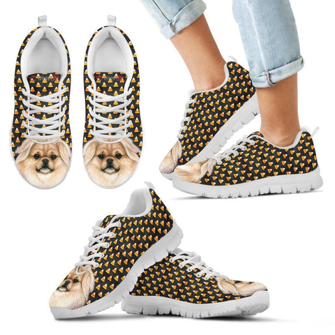 Tibetan Spaniel Halloween Print Running Shoes For Kids-Free Shipping