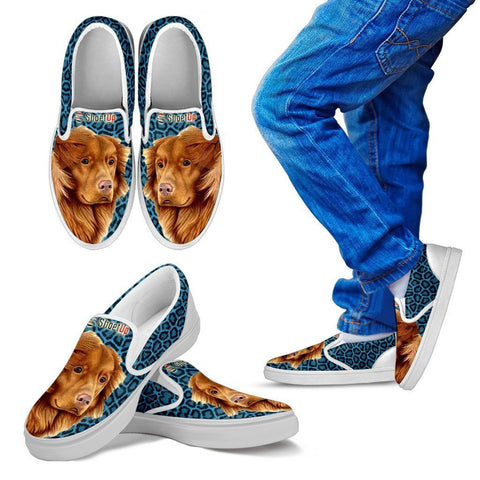 Amazing Nova Scotia Duck Tolling Retriever Print-Kid's Slip Ons-Free Shipping
