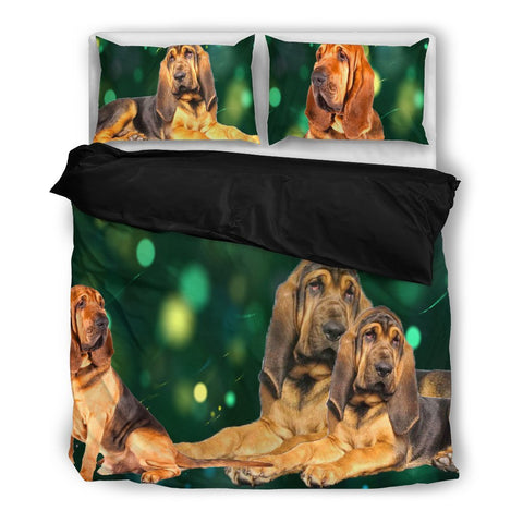 Amazing Bloodhound Dog Print Bedding Set- Free Shipping
