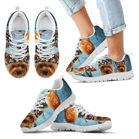 Yorkshire Terrier Halloween Print Running Shoes For Kids And Women- Free Shipping