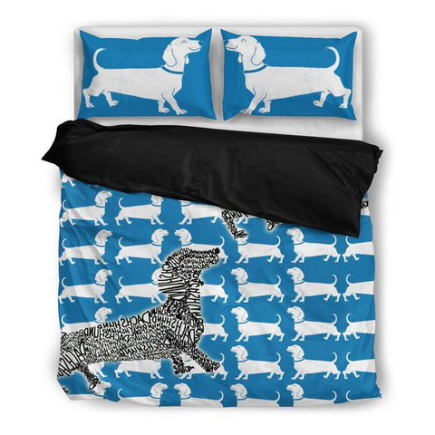 Amazing Dachshund Print Bedding Set- Free Shipping