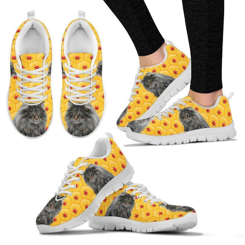 Norwegian Forest Cat Print Christmas Running Shoes For Women-Free Shipping-Paww-Printz-Merchandise