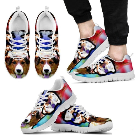 English Shepherd Dog Print Running Shoe For Men- Free Shipping-Paww-Printz-Merchandise