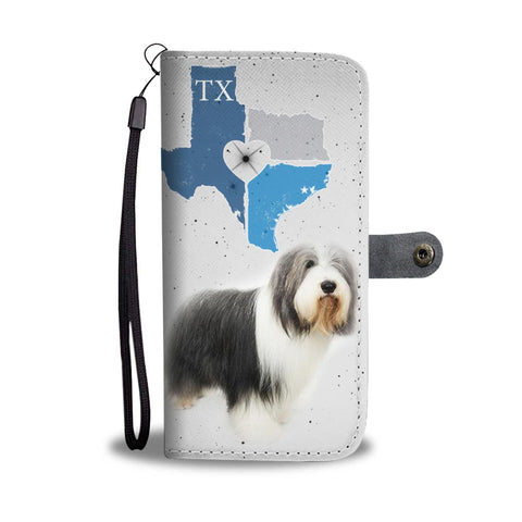 Bearded Collie Print Wallet Case-Free Shipping-TX State