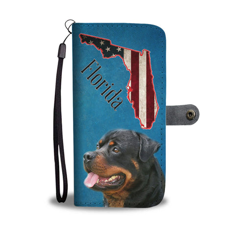 Rottweiler Print Wallet Case-Free Shipping-FL State