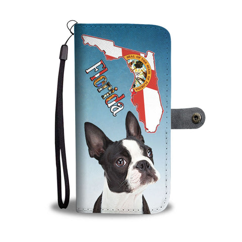 Boston Terrier Print Wallet Case-Free Shipping-FL State