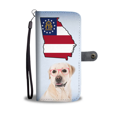 Labrador Retriever Print Wallet Case-Free Shipping-GA State