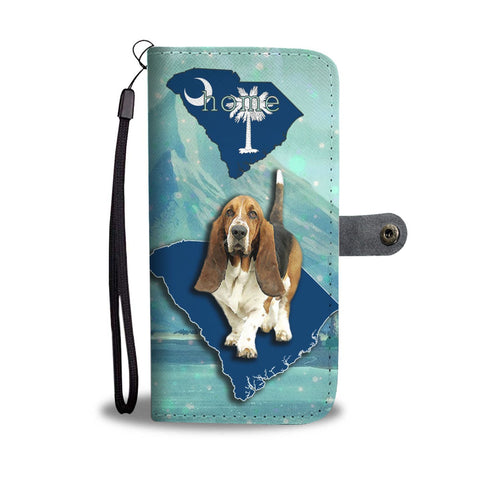 Cute Basset Hound Dog Print Wallet Case-Free Shipping-SC State