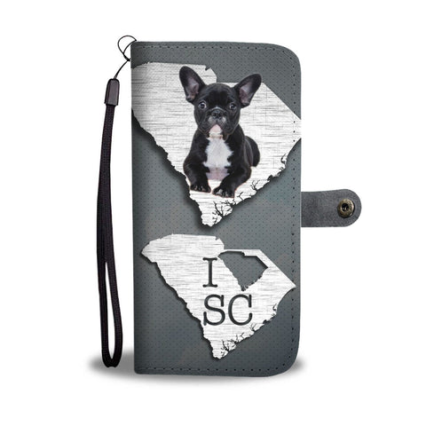 Cute French Bulldog Print Wallet Case-Free Shipping-SC State