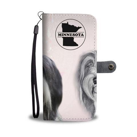 Bearded Collie Print Wallet Case-Free Shipping-MN State