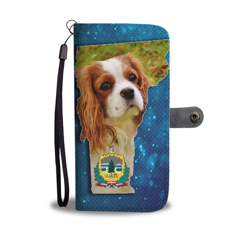 Cavalier King Charles Spaniel Dog Print Wallet Case-Free Shipping-VT State