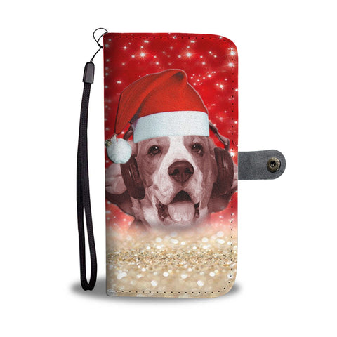 Lovely Beagle On Christmas Print Wallet Case-Free Shipping