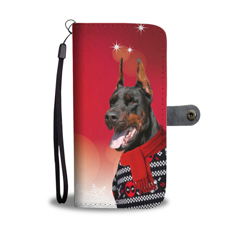 Doberman Pinscher Christmas Print Wallet Case-Free Shipping