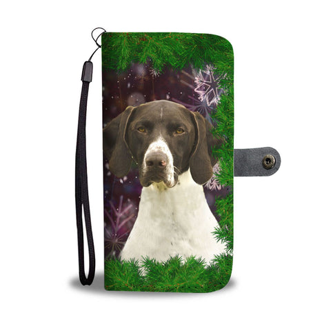 German Shorthaired Pointer Dog Christmas Print Wallet Case-Free Shipping
