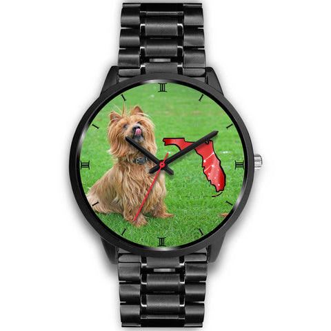 Australian Terrier On Christmas Florida Wrist Watch-Free Shipping