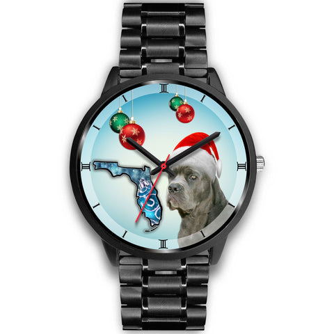 Cane Corso On Christmas Florida Wrist Watch-Free Shipping