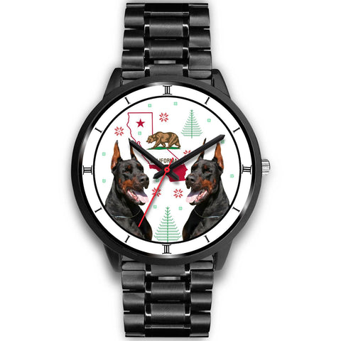 Doberman Pinscher California Christmas Special Wrist Watch-Free Shipping