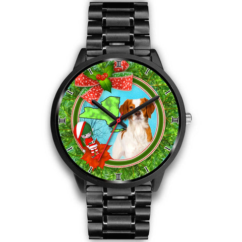 Cute Brittany Dog New York Christmas Special Wrist Watch-Free Shipping
