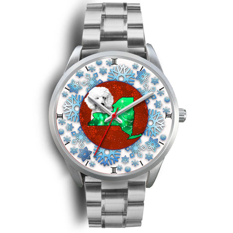 Lovely Poodle Dog New York Christmas Special Wrist Watch-Free Shipping