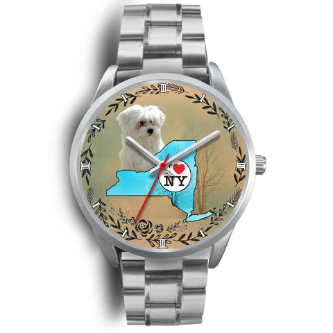 Maltese Dog New York Christmas Special Wrist Watch-Free Shipping